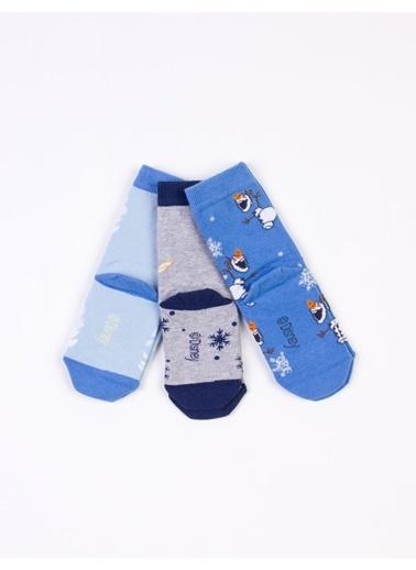 Frozen  6 Çift Soket Çorap 17077 Mavi